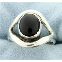 Sterling Ring with Synthetic Onyx