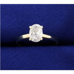 3/4ct Oval Diamond Solitaire Ring