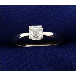 GIA Certified .88 ct Square Diamond Solitaire Ring