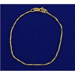 7 Inch Italian Made Box Link Bracelet