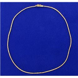 15 Inch Snake Link Neck Chain