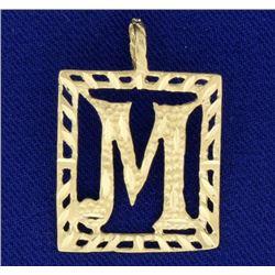 """Initial """"M"""" Pendant"""