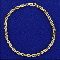 8 1/2 Inch Rope Style Bracelet