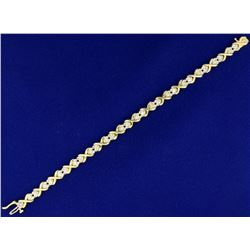1ct TW Diamond Heart Bracelet