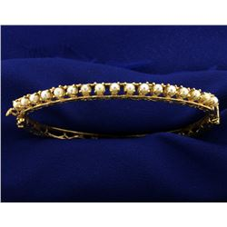 Pearl Bangle Bracelet