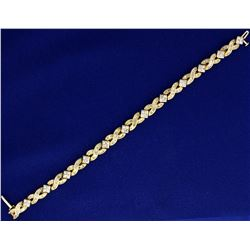 3 ct TW Diamond Tennis Bracelet with Baguette and Round Diamonds