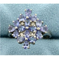 Tanzanite Ring in Flower Design