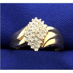 1/3ct TW Diamond Cluster Ring