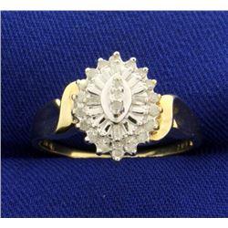 1/4 ct TW Diamond Cocktail Ring