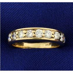 1ct TW Diamond Wedding Band Ring