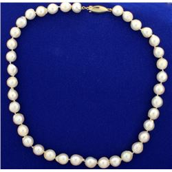 Large Natural Baroque Pearl Necklace with 14k Gold Clasp