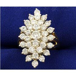 3ct TW Diamond Cluster Ring