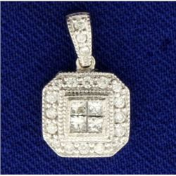 1/2ct TW Diamond Pendant