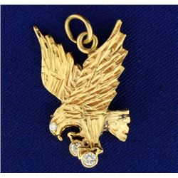 Diamond Eagle Pendant