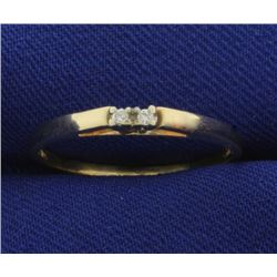 2 Diamond Cathedral Style Ring