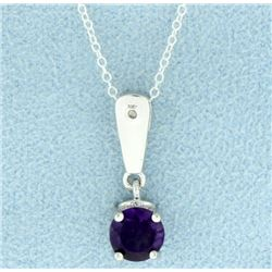 Modern Amethyst Pendant and Chain