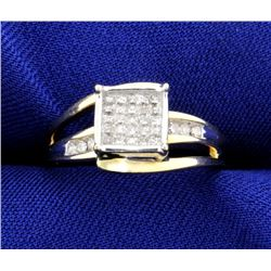 1/2 ct TW Invisible Set Diamond Ring
