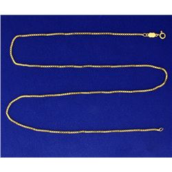 24 1/2 Inch 18k Gold Box Link Neck Chain