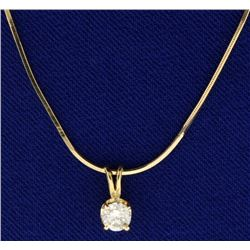 1/3ct Diamond Pendant on 14k Gold Chain