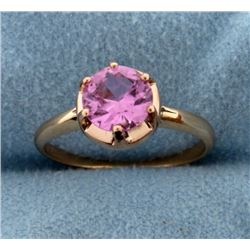 1.5ct Pink Topaz Ring in 14k Rose Gold