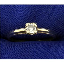 Vintage 1/5ct Solitaire Diamond Ring