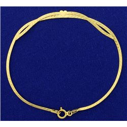 Italian Made Heart Bracelet in 14k Gold