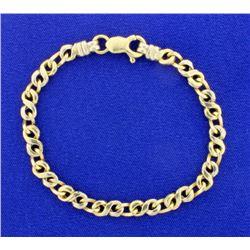 14K White & Yellow Gold Link Bracelet