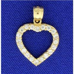 1/2ct TW Diamond Heart Pendant