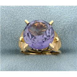 Vintage 6ct Purple Sapphire Ring