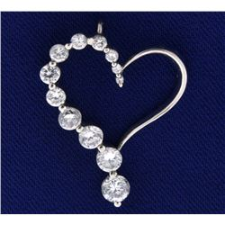 Sterling Silver and CZ Diamond Pendant