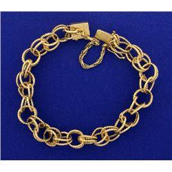 Interlocked Chain Charm Bracelet