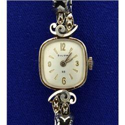 Vintage 14k Gold and Diamond Woman's Bulova Watch