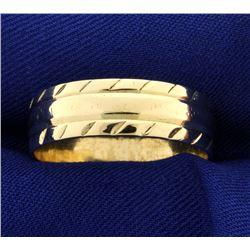 Men's 7mm Wedding Band Ring Unique Pattern