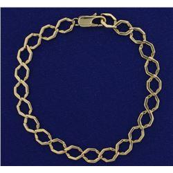 8 Inch Hexagon Curb Link Bracelet
