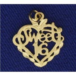 """Sweet 16"" Pendant/Charm"