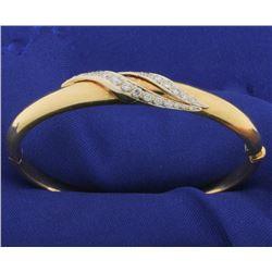 Italian Made 3/4ct TW Diamond Bangle Bracelet