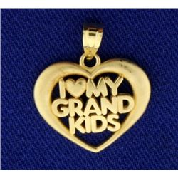 """I Love My Grandkids"" Pendant/Charm"