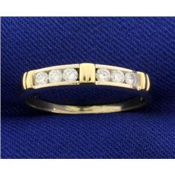 1/4ct TW Diamond Band Ring in White and Yellow 14k Gold