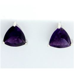 Large Amethyst Stud Earrings