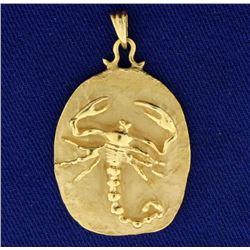 Scorpio Zodiac Scorpion Pendant in 14k Gold