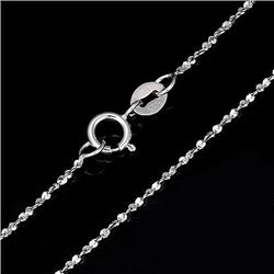 """20"""" Starry Sterling Silver Chain"""