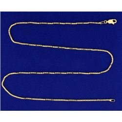 18 1/2 Inch Box Style Neck Chain in 14k Gold