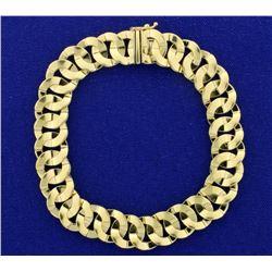Italian Made Designer Circle Link 14k Gold Bracelet