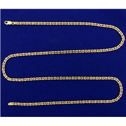Italian Made 24 Inch Neck Chain in 14k Gold
