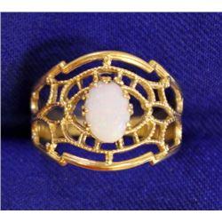 Unique Designer Opal Ring in 14k Gold