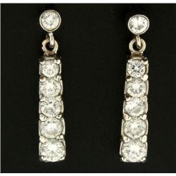1ct TW Diamond Drop Dangle Earrings