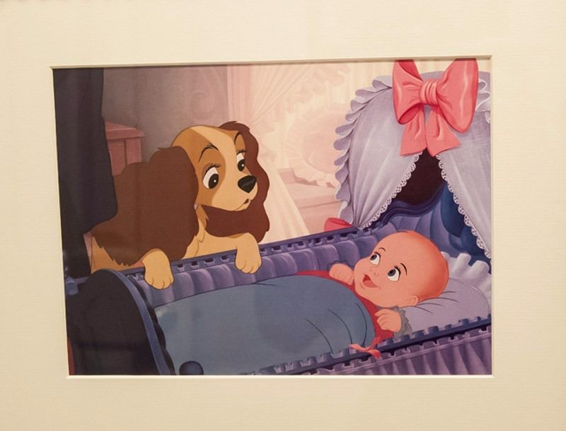 Disney Lady With Baby Lady And The Tramp Offset Lithograph