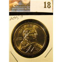 2015 D Gem BU Sacagawea Dollar Coin.
