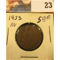 1933 Small Canada Cent. AU.