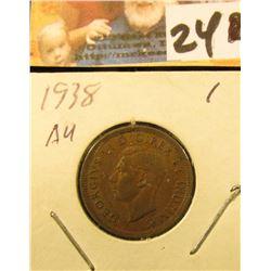 1938 Small Canada Cent. AU.